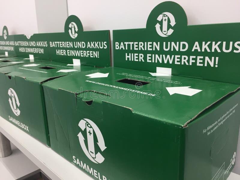 Batterie della scatola della raccolta fotografie stock libere da diritti