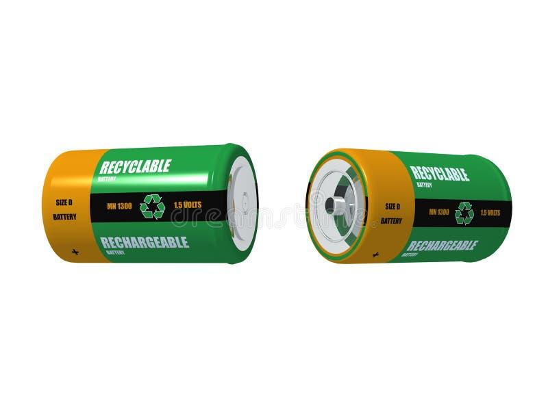 batterie deux rechargeables photos stock