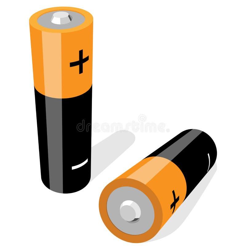 batterie di Aa-formato royalty illustrazione gratis