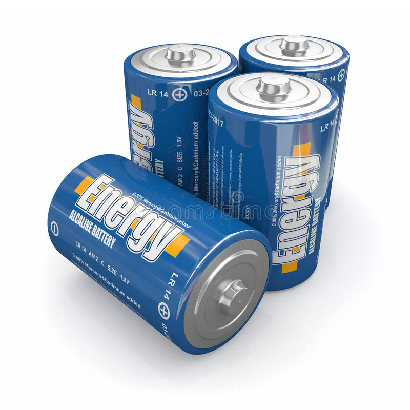 Batterie Di Energia Fotografie Stock Libere da Diritti