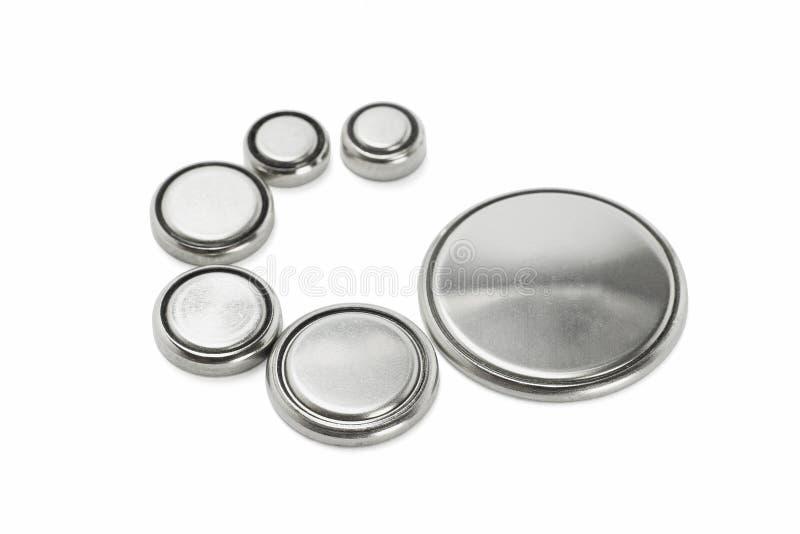 Batterie di litio di vari formati fotografie stock