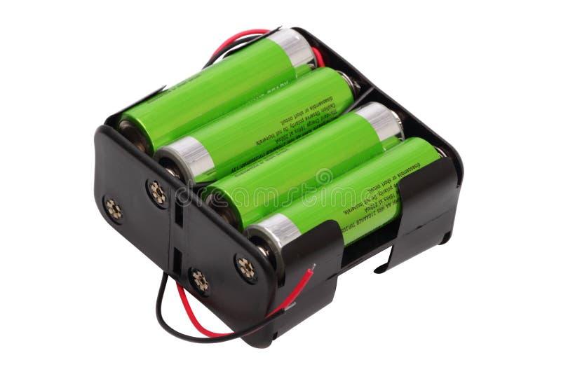 Batterie du bloc aa images stock