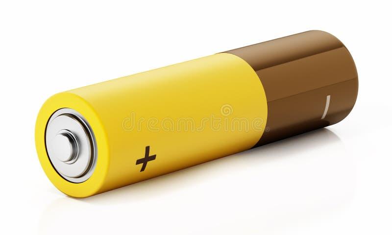 Batterie générique d'aa d'isolement sur le fond blanc illustration 3D illustration stock