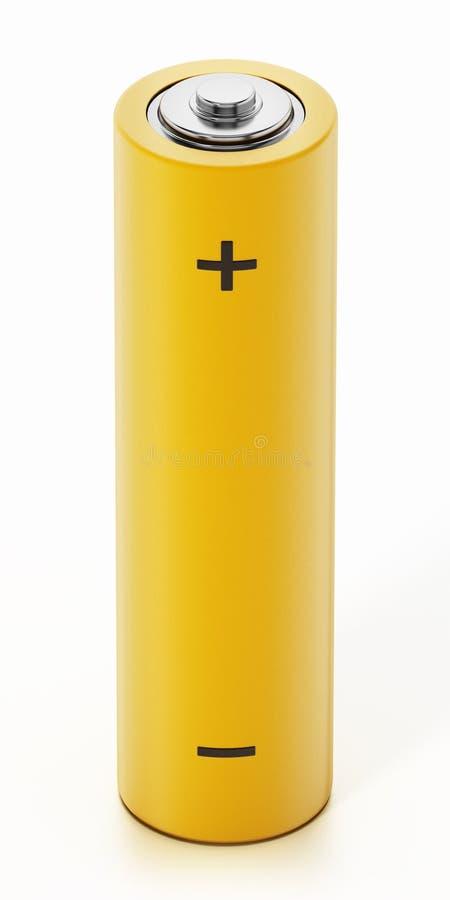 Batterie générique d'aa d'isolement sur le fond blanc illustration 3D illustration libre de droits