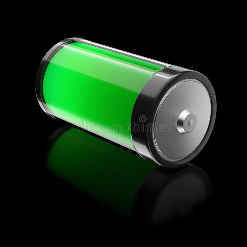 Batterie gefüllt mit Ecoenergie lizenzfreie abbildung