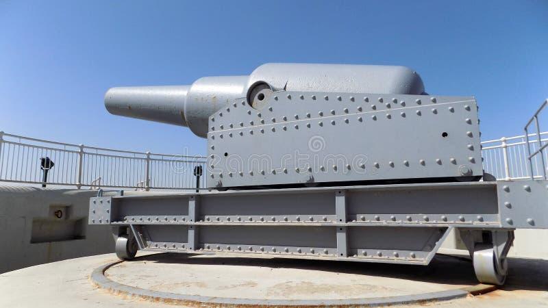 Batterie in Gibraltar lizenzfreies stockfoto