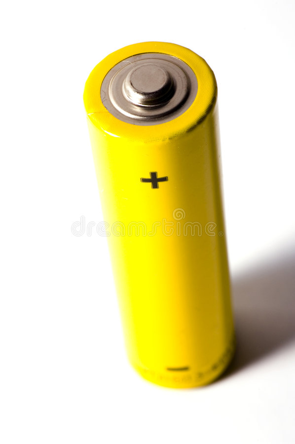 Batterie ha isolato fotografia stock