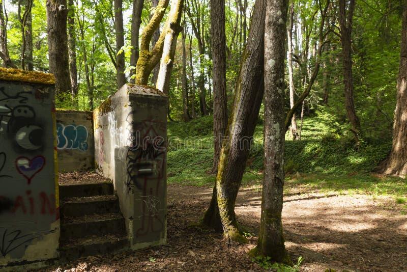 Batterie historique Thornburgh d'artillerie de salle de fort photos libres de droits