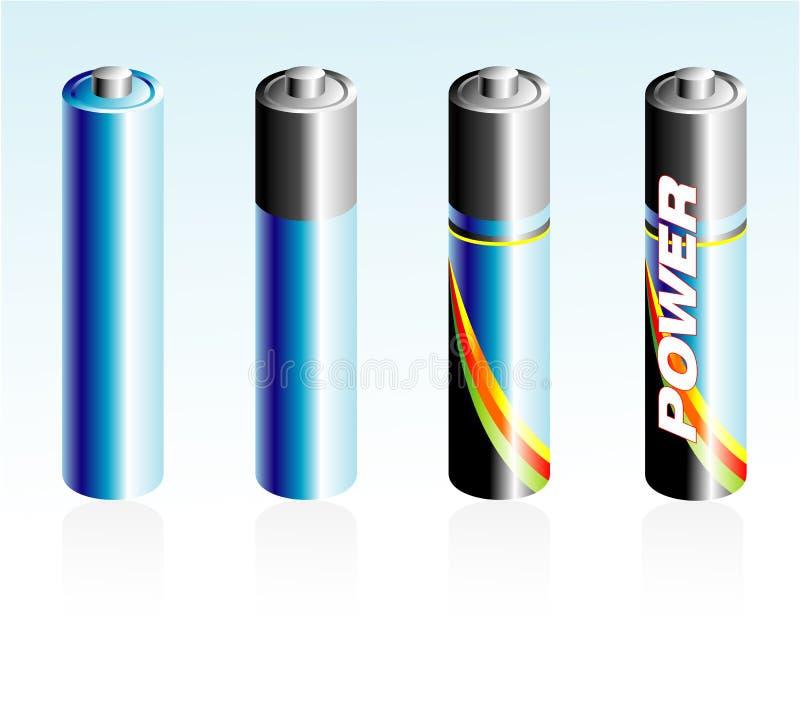 Batterie-Ikonen stock abbildung