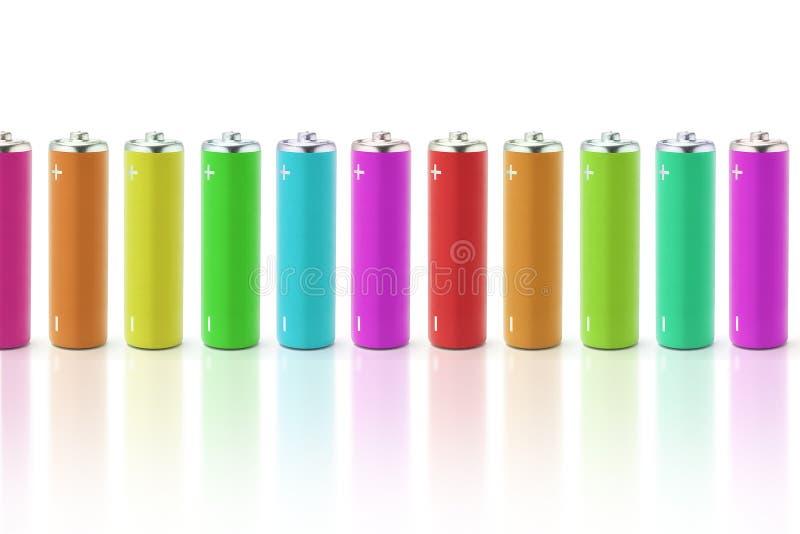 Batterie multicolori fotografie stock libere da diritti