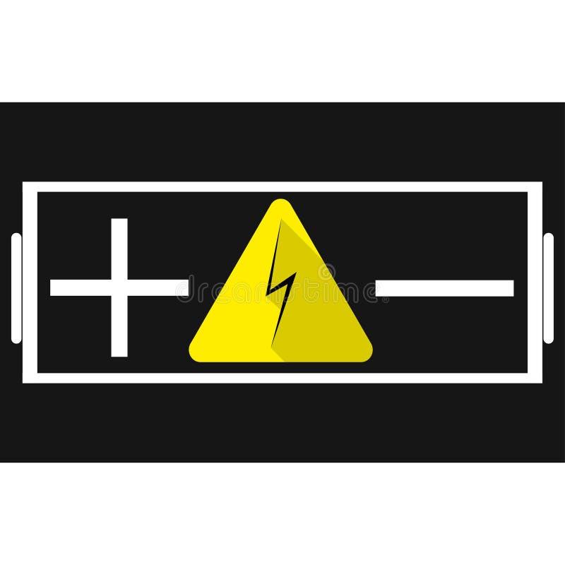 Batterie Plus- Und Minus Der Zeichen Mitten In Dem Zeichen Der ...