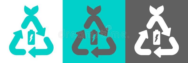 Batterie réutilisant le logo de vecteur illustration libre de droits
