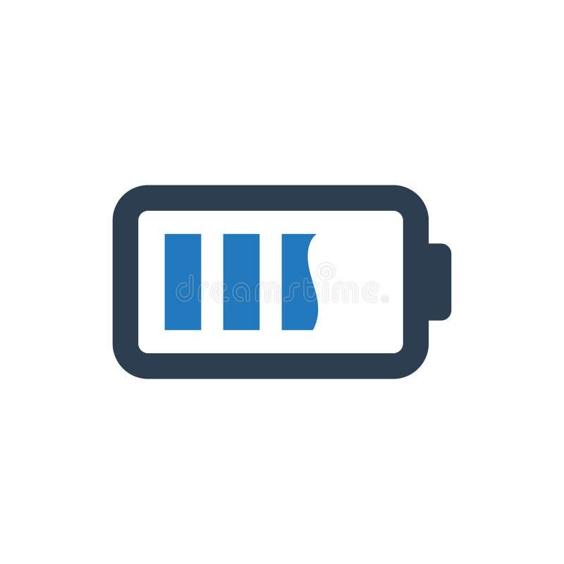 Batterie-Status-Ikone lizenzfreie abbildung