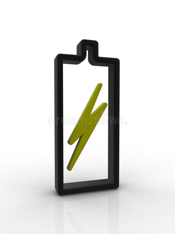 Batterie vide images libres de droits