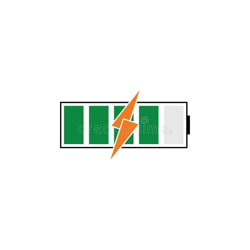 Batterienergivektor Logo Template vektor illustrationer