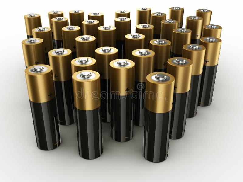 batterier vektor illustrationer