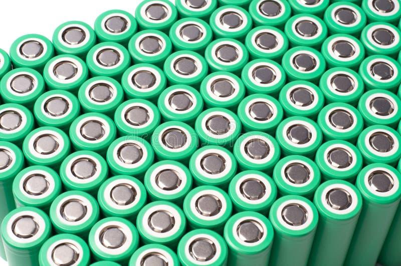 Batterier för litiumjon 18650 royaltyfria foton