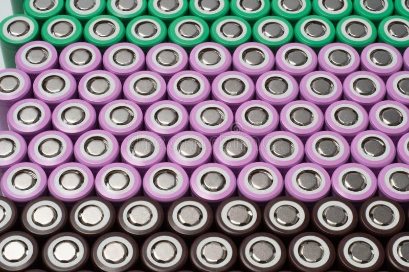 Batterier för litiumjon 18650 royaltyfri foto