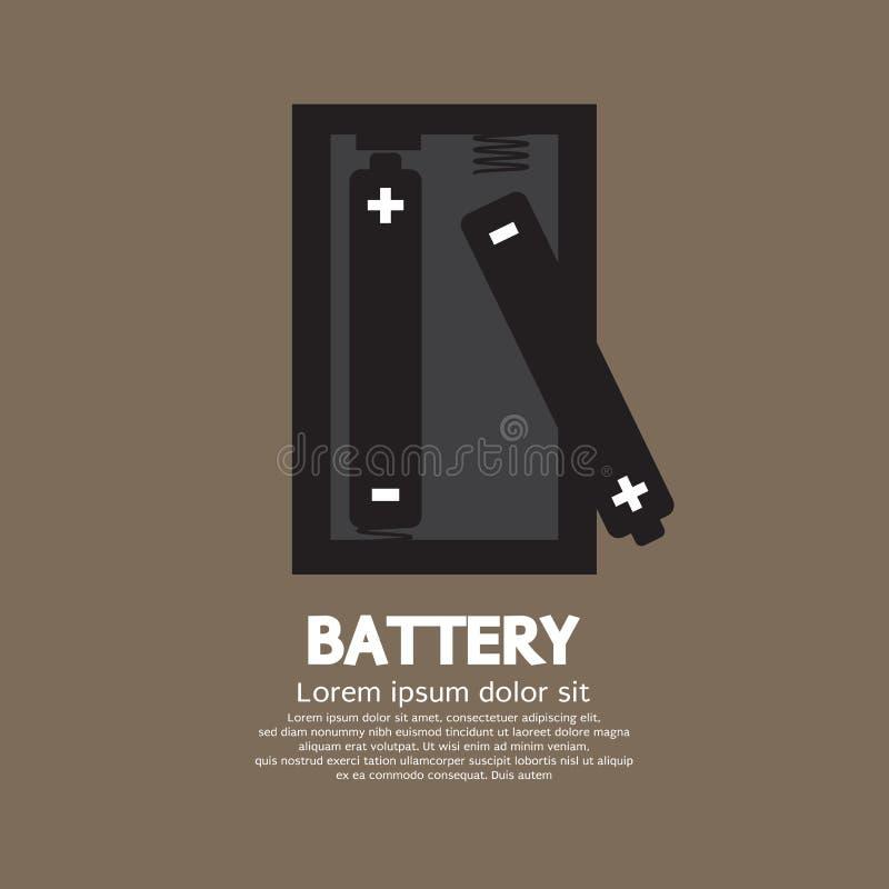 batterier två vektor illustrationer