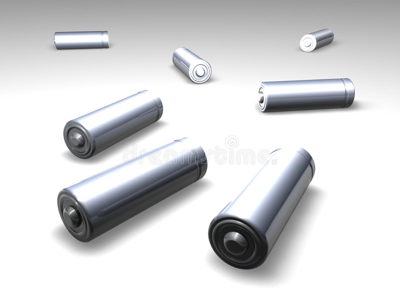 Download Batteries 1 stock illustration. Image of object, metal - 192197