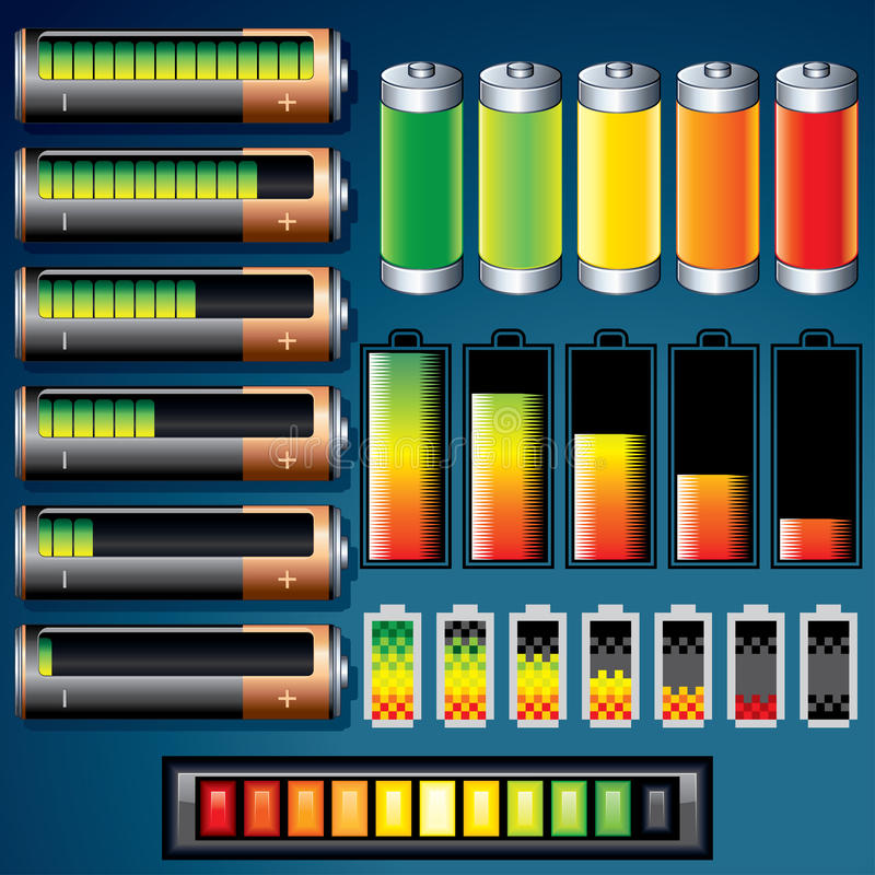 Download Batteries stock vector. Image of accumulator, electronic - 26397477
