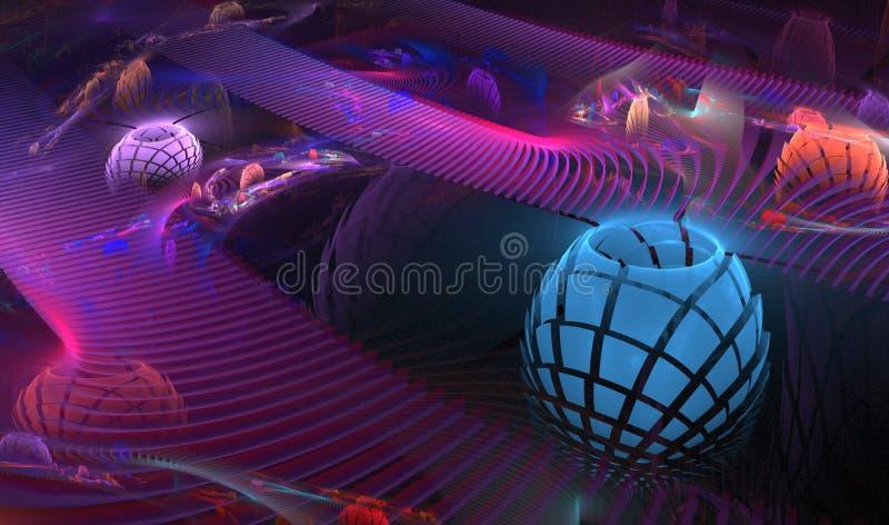 batteries 3D abstraites illustration de vecteur