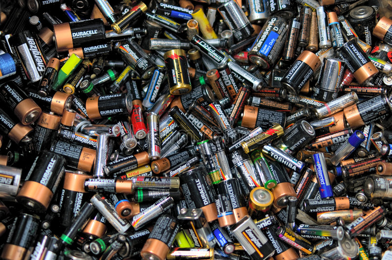 Batteries photo libre de droits