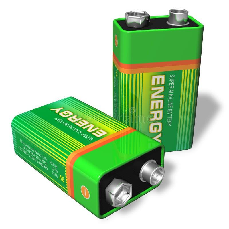 batteries 9V illustration stock