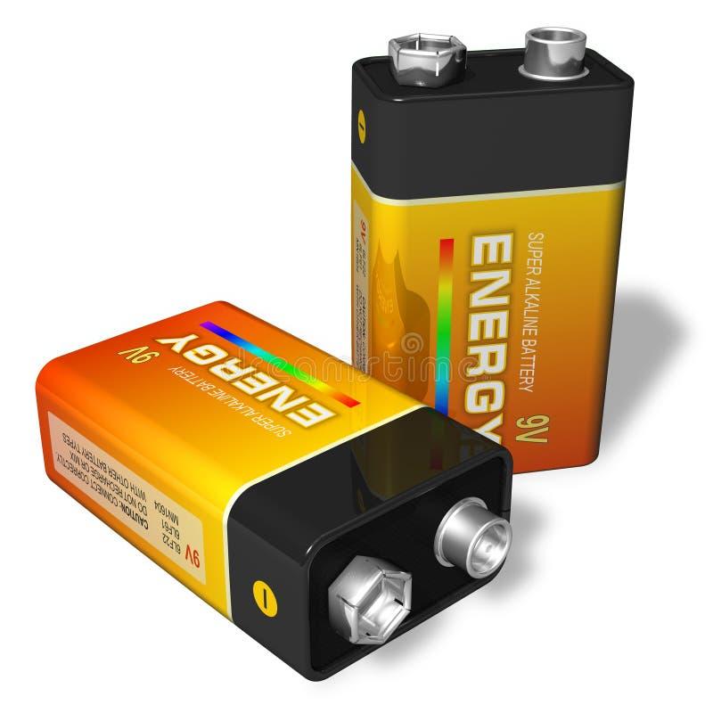 batteries 9V illustration libre de droits