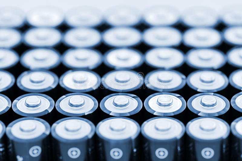 Download Batteries in array stock photo. Image of metal, ends - 21381372