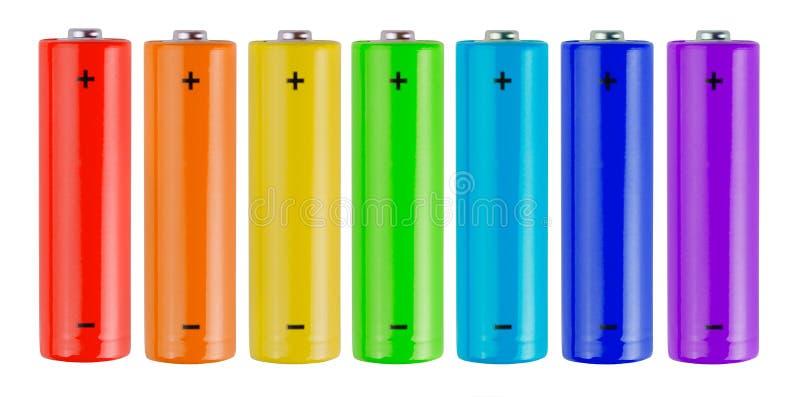 Batteries d'arc-en-ciel photographie stock