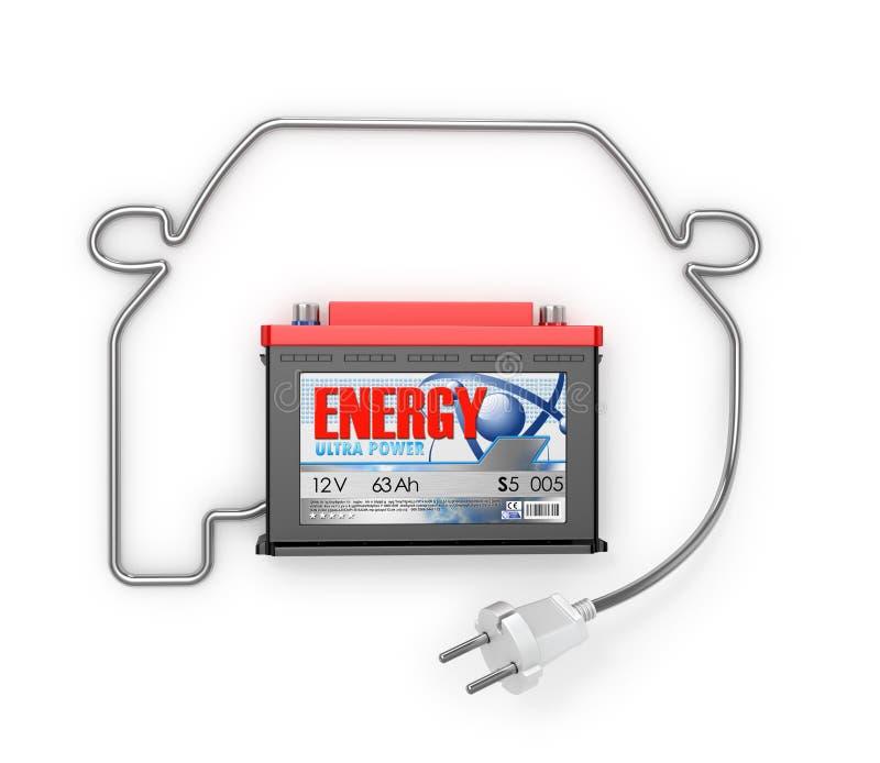Batteries d'automobile avec illustration stock