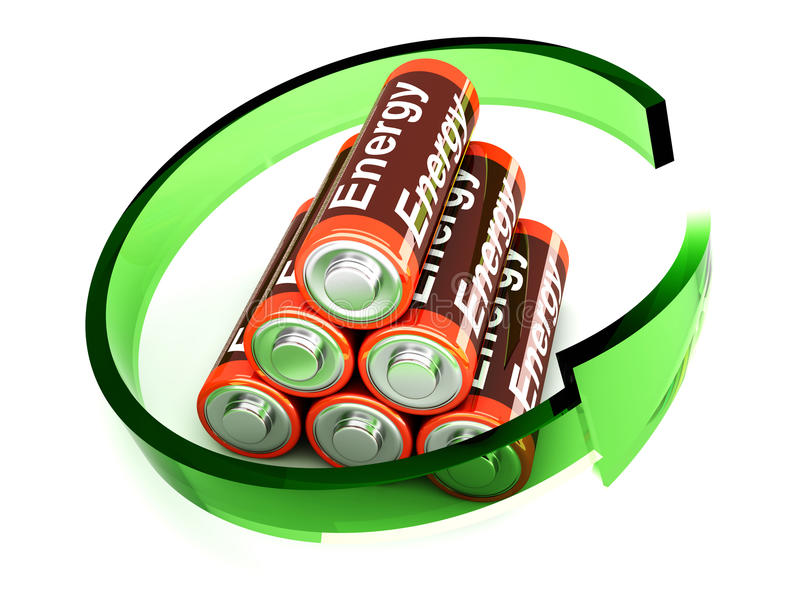 Batteries de Rechargable illustration stock