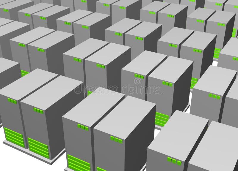 Batteries de serveur pour des données entreposant le clipart (images graphiques) illustration de vecteur