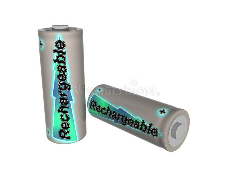 batteries deux rechargeables illustration libre de droits