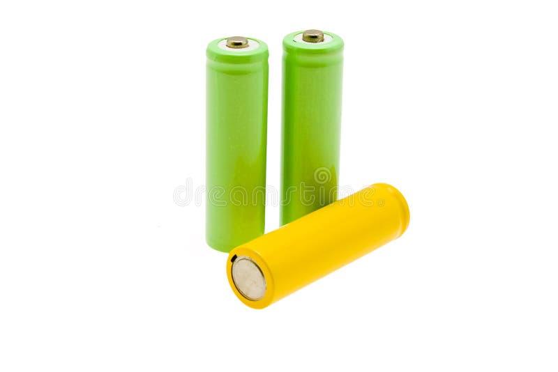 Batteries multicolores images libres de droits