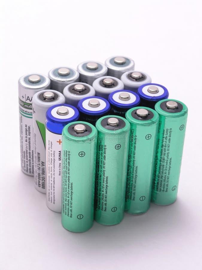 Batteries pattern 3 stock photography