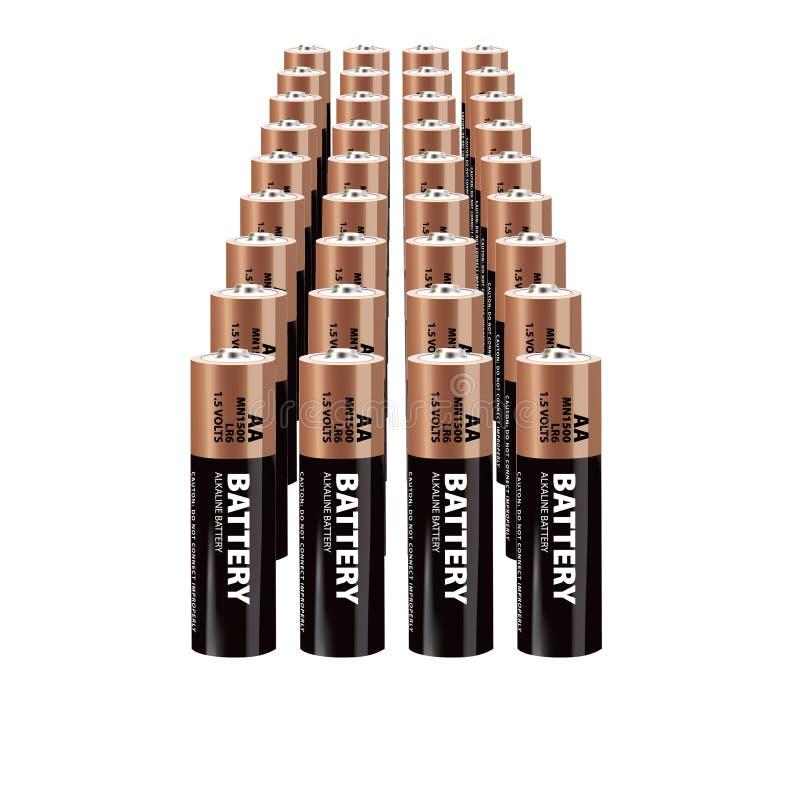 Batteries réalistes de vecteur illustration de vecteur