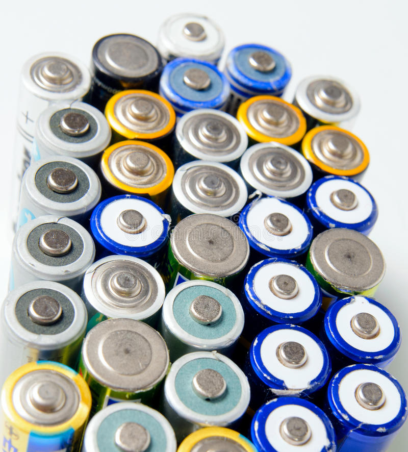 Batteries rechargeables utilisées photos stock