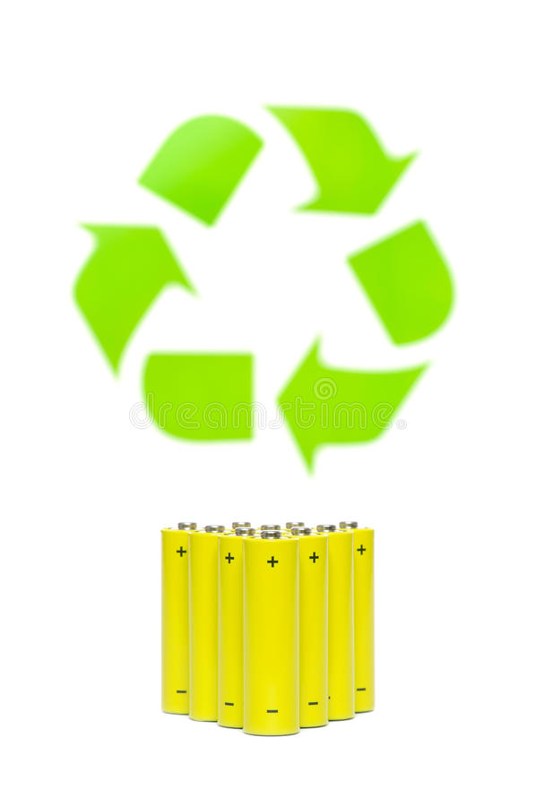 Download Batteries With Recycling Symbol Stock Image - Image: 25567121