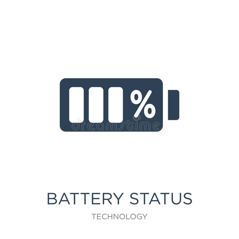 Batteriestatusikone in der modischen Entwurfsart Batteriestatusikone lokalisiert auf weißem Hintergrund Batteriestatus-Vektorikon vektor abbildung