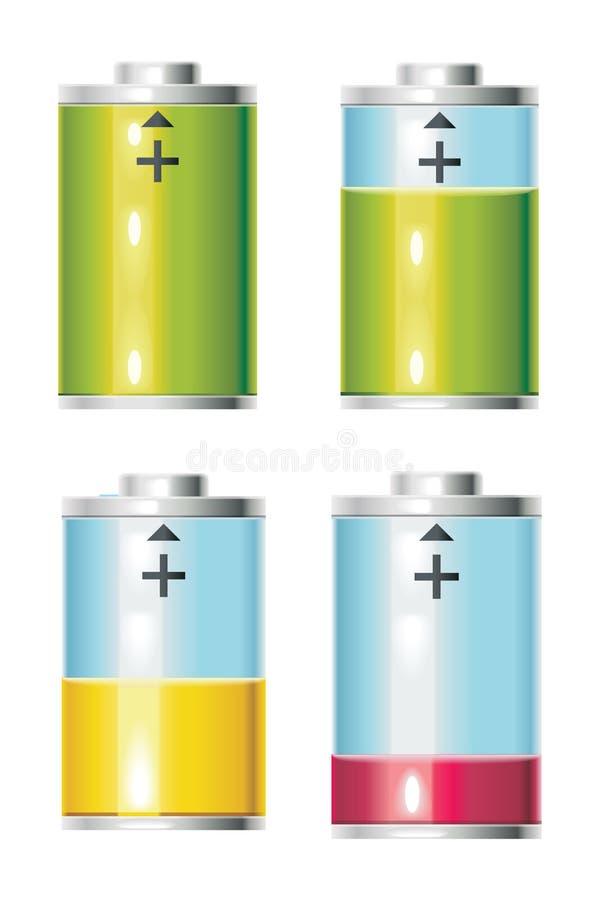 Batteriets livslängd vektor illustrationer