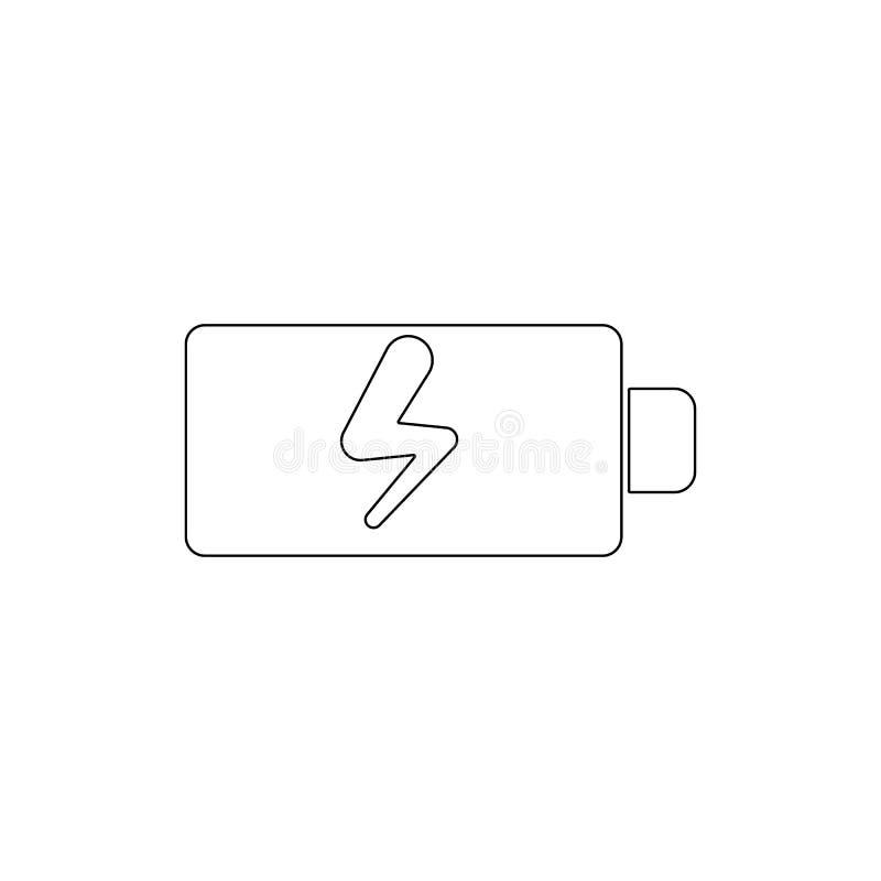 Batterij het laden overzichtspictogram De tekens en de symbolen kunnen voor Web, embleem, mobiele toepassing, UI, UX worden gebru stock illustratie