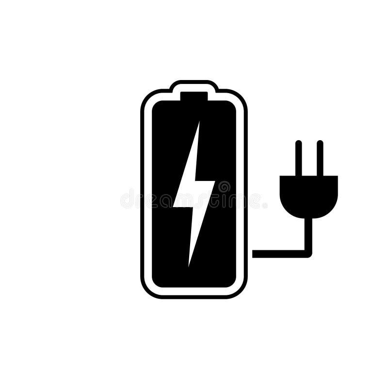 Batterij het laden pictogram, batterij, pictogram van de laders het vectorillustratie royalty-vrije illustratie