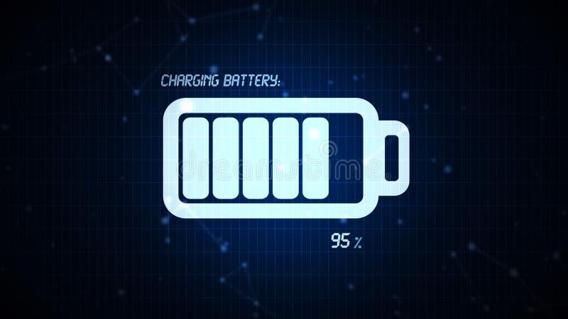 Batterij het laden pictogramillustratie, navulbare mede energiemacht royalty-vrije illustratie