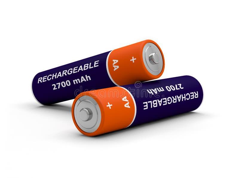 Batterij navulbare 3D vector illustratie