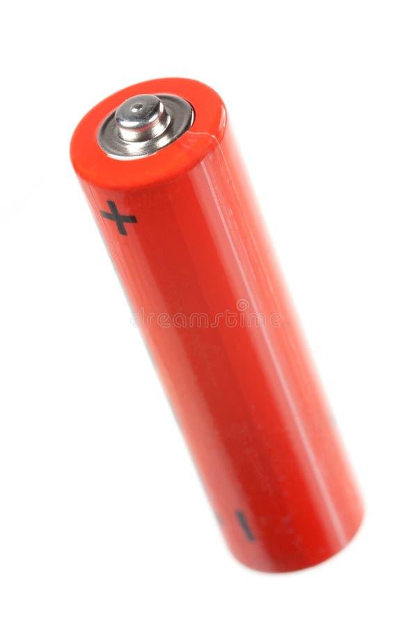 Batterij op wit royalty-vrije stock afbeelding