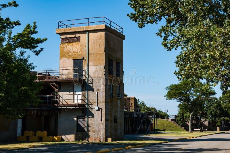 Batterij Parrott bij Fort Monroe in Hampton, Virginia stock foto