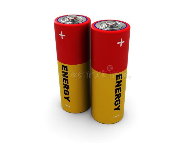 Batterij twee royalty-vrije illustratie