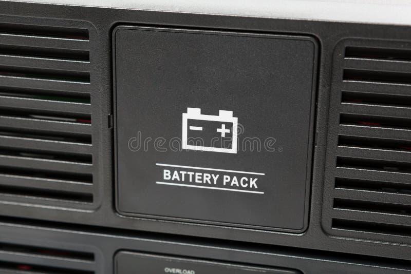 Batterij Uninterruptible van de voeding (UPS) reserve royalty-vrije stock afbeeldingen